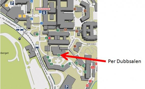 Karta med pil Sahlgrenska